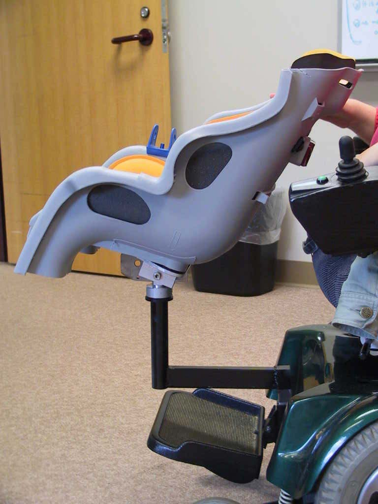 Adaptation Of A Baby Seat For Attachment To A Wheelchair