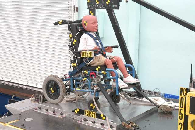 Design and Testing of a Prototype Wheelchair-Integrated, Five-Point