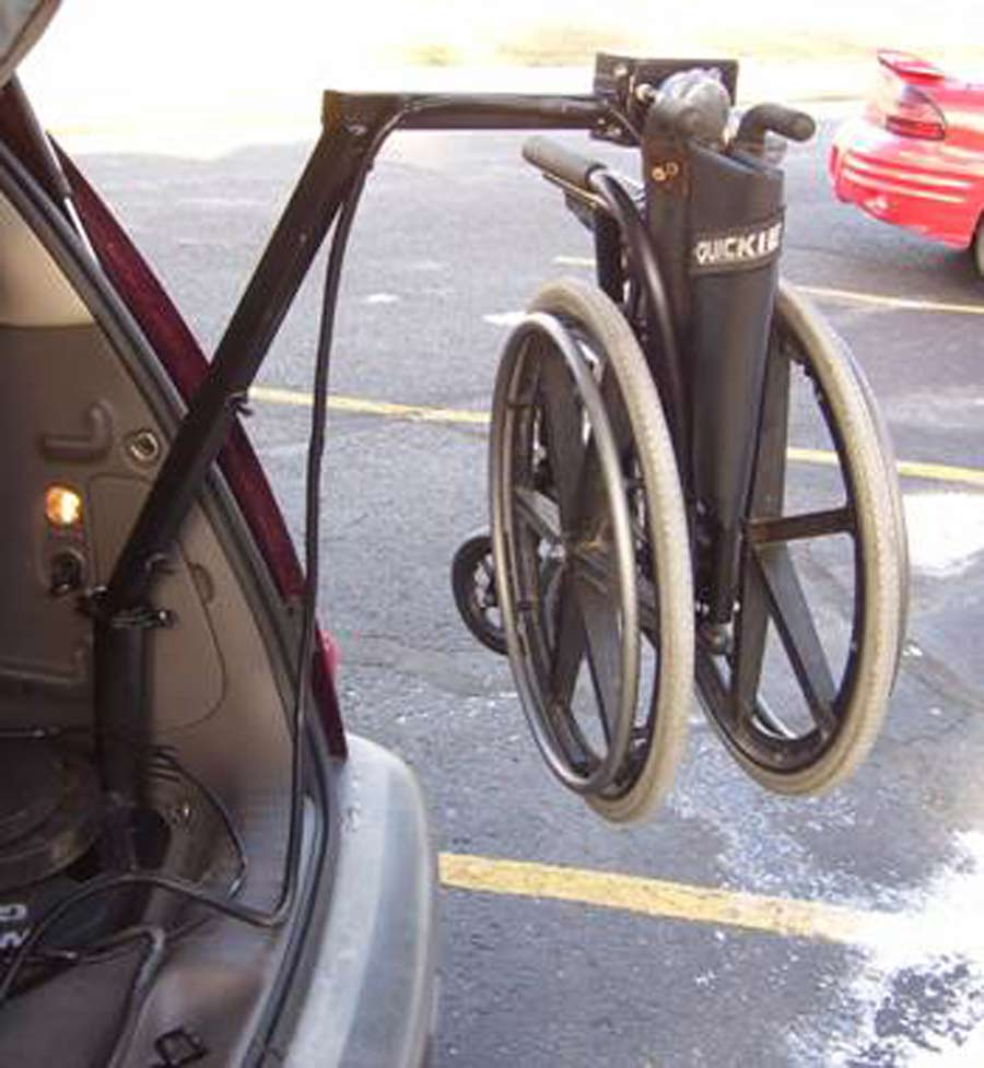 wheelchair lift for car. Exellent Car This Photograph Shows The Wheelchair Being Lifted Into Car The Main  Post Of And Lift For Car