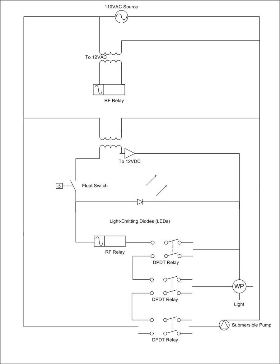 Design Of An Assistive Plant Watering System Spdt Float Switch Wiring Diagram This Shows The Lights Leds And Switches Recieving 12 Volt Dc Power